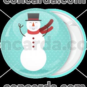 Κονκάρδα Χριστουγέννων Χιονάνθρωπος mustache