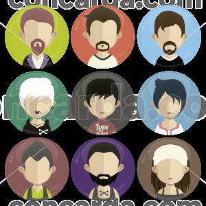 Σετ εννέα κονκάρδες avatar free style