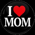 Κονκάρδα I Love Mom μαύρη