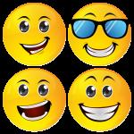 Smiley κονκάρδες sunglasses- σετ 4 τεμάχια