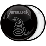 Metallica music heavy metal band badge black album