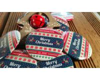 Διαφημιστικές κονκάρδες Merry Christmas