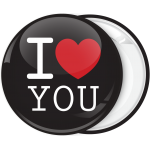 Κλασσική κονκάρδα I Love You μαύρη