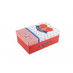 Χάρτινο ορθογώνιο κουτί για κονκάρδες ναυτικό κόκκινο μεσαίο