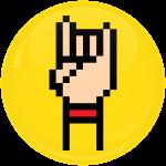 Κονκάρδα Rock Hand Horn κίτρινη