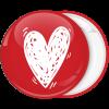 Κονκάρδα καρδιά λευκή με κόκκινο φόντο