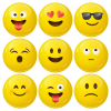 Κονκάρδες emoticons avatar collection caramel 9 τεμάχια