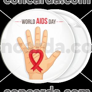 Κονκάρδα world Aids Day hand