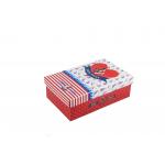 Χάρτινο ορθογώνιο κουτί για κονκάρδες ναυτικό κόκκινο μικρό