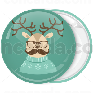 Κονκάρδα Χριστουγέννων ελαφάκι με γυαλιά