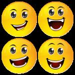 Smiley κονκάρδες big laugh - σετ 4 τεμάχια