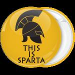 Κονκάρδα This is Sparta περικεφαλαία κίτρινo σκούρο
