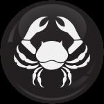 Κονκάρδα Ζώδια Καρκίνος black collection
