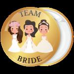 Κονκάρδα Team Bride the friends χρυσή
