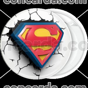 Κονκάρδα λευκή Superman classic broken 3D
