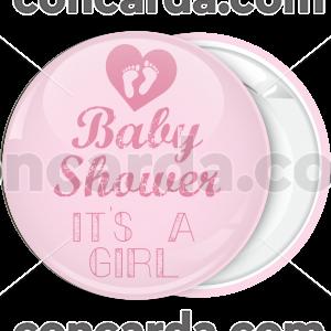 Κονκάρδα baby shower its a girl feet