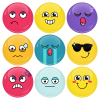 Κονκάρδες emoticons avatar collection colors 9 τεμάχια