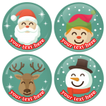 Χριστουγεννιάτικες κονκάρδες παιδικό πάρτυ 4 τεμάχια