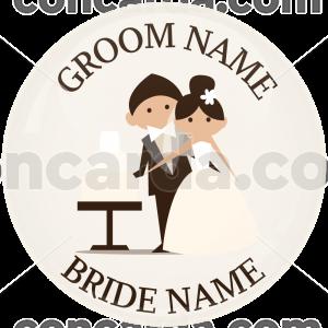 Κονκάρδα γάμου ονόματα cut the cake