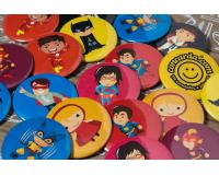 Παιδικές κονκάρδες σουπερ ήρωες σετ