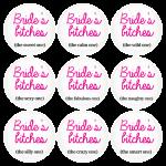 Κονκάρδες Brides Bitches σετ 9 τεμάχιων