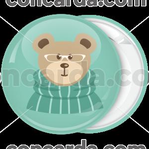 Χριστουγεννιάτικη κονκάρδα happy bear