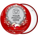 Κονκάρδα Χριστουγεννιάτικο Photo booth με ευχή Merry Christmas