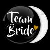 Kονκάρδα μαύρη Team Bride χρυσή καρδιά