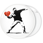 Κονκάρδα Banksy Anarchy thrower  heart