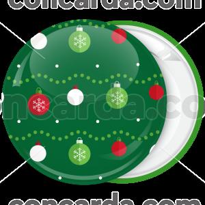 Κονκάρδα Χριστουγεννιάτικη μπάλα στολίδια