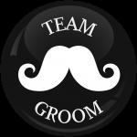 Κονκάρδα γάμου Team groom mustache μαύρη