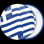 Κονκάρδα Ελληνική κυματιστή σημαία λευκή