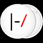 Kονκάρδα Twenty One Pilots logo λευκή