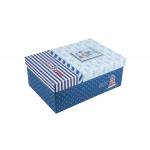 Χάρτινο ορθογώνιο κουτί για κονκάρδες ναυτικό μπλέ μεγάλο