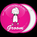 Κονκάρδα γάμου Groom Cartoon ροζ