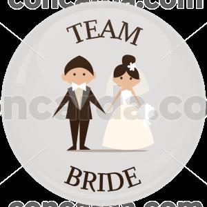 Κονκάρδα γάμου Team Bride λευκή