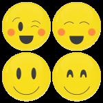 Smiley κονκάρδες blush - σετ 4 τεμάχια