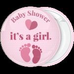 Κονκάρδα baby shower its a girl πουά