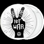 Κονκάρδα χέρι της ειρήνης με μήνυμα Make Love not War