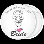 Κονκάρδα γάμου Bride Cartoon λευκή