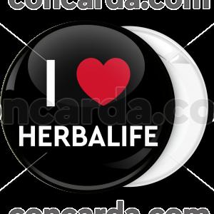 Κονκάρδα I Love Herbalife classic μαύρη