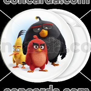 Κονκάρδα angry birds τρεις ήρωες λευκή
